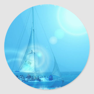 Sailing Catamaran Sticker