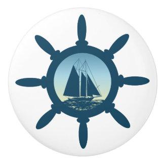Sailing Ceramic Knob