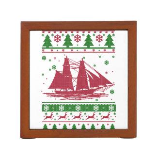Sailing Christmas Desk Organizer