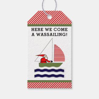Sailing Christmas Gift Tags