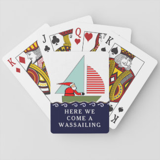 Sailing Christmas Playing Cards