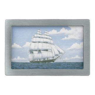 Sailing Clipper Ship Sailboat Sea Mens Belt Buckle