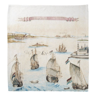 Sailing Clipper Ships Ocean Sunset Color Bandana