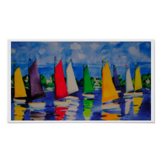 Sailing Colors Print Poster