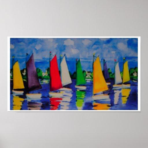 Sailing Colors ~ Print / Poster