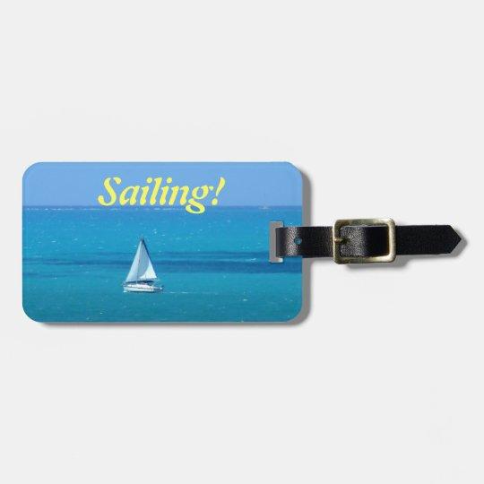 Sailing Custom Luggage Tag