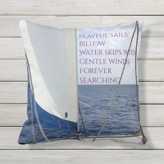 Sailing customizable outdoor pillow