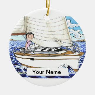 Sailing - Female Ceramic Ornament