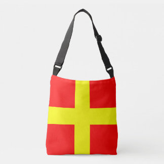 Sailing Flag Letter R Romeo Marine Pattern Crossbody Bag