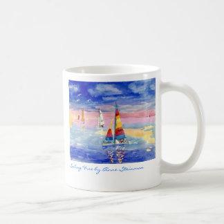 Sailing Free Hobie Cat Basic White Mug
