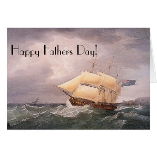 Sailing Frigate Ship Ocean Fathers Day Card