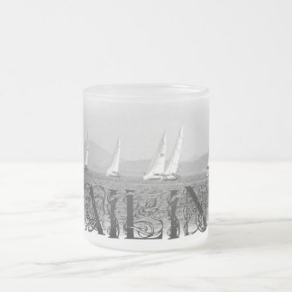 Sailing Frosted Glass Mug