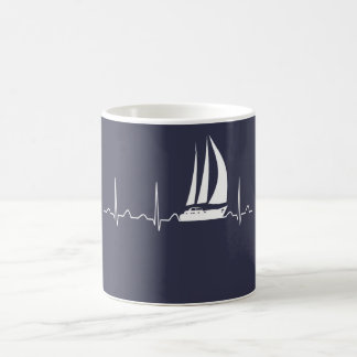 Sailing Heartbeat Coffee Mug