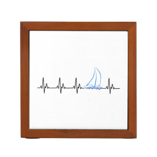 Sailing Heartbeat Funny Sailboat Desk Organizer