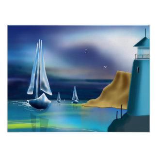 """Sailing Home"" Art Poster"