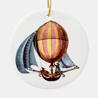 Sailing /Hot Air Balloon Ceramic Ornament