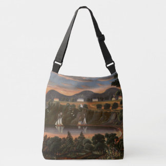 Sailing Hudson River Sailboats Shoulder Tote Bag
