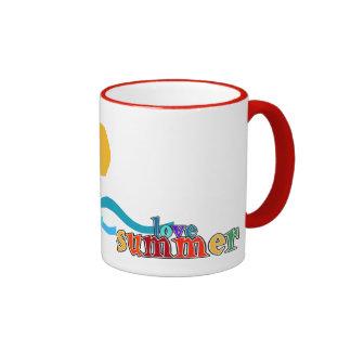 Sailing - I love summer Ringer Mug