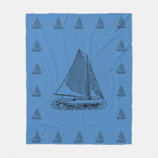 Sailing in a Knockabout Fleece Blanket