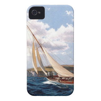Sailing in a rough sea iPhone 4 case