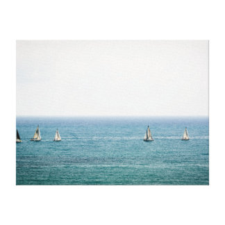 Sailing in good company canvas print