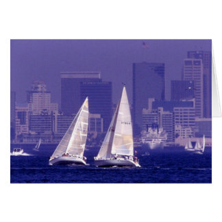 Sailing in San Diego, CA Card