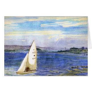 Sailing in San Francisco Bay Card