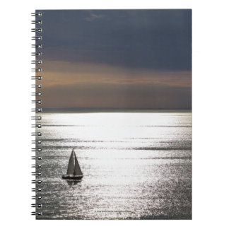 Sailing in Santa Monica - Spiral Notebook