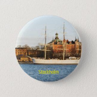 Sailing in Stockholm, Sweden 2 Inch Round Button