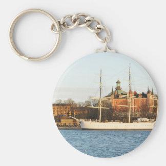 Sailing in Stockholm, Sweden Keychain