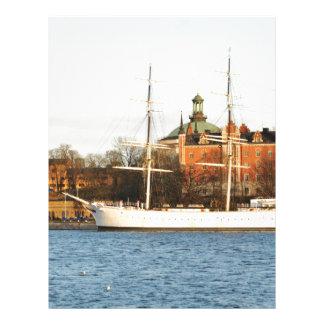 Sailing in Stockholm, Sweden Letterhead