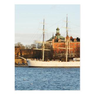 Sailing in Stockholm, Sweden Postcard