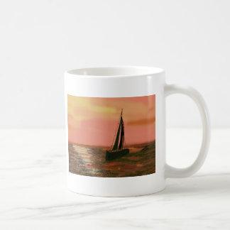 Sailing in the Orange Sky Basic White Mug