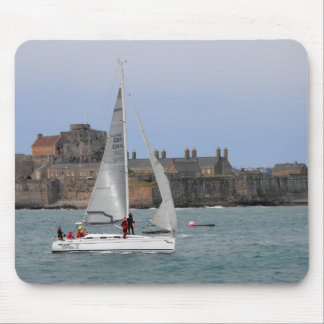 Sailing into St Helier harbour Mouse Pad