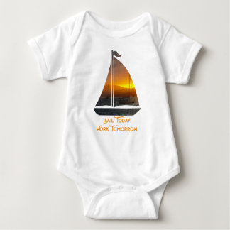 Sailing into the Sunset Baby Bodysuit