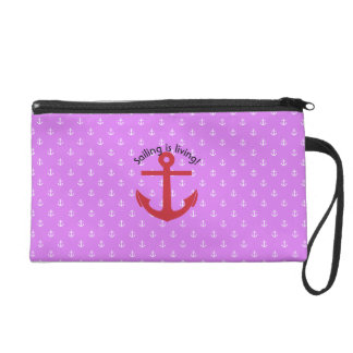 Sailing is living! wristlet