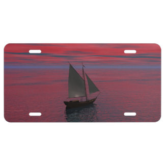 Sailing License Plate
