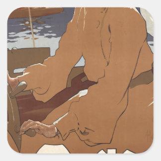 Sailing Monaco Square Sticker