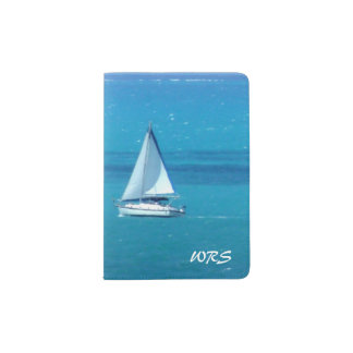 Sailing Monogrammed Passport Holder