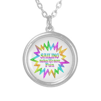 Sailing More Fun Silver Plated Necklace