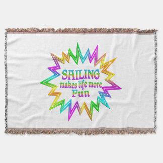 Sailing More Fun Throw Blanket