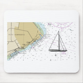 Sailing Nautical Map Mouse Pad