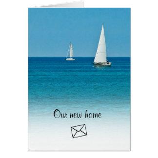 Sailing . . . New Address Card