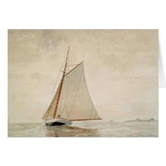 Sailing off Gloucester by Winslow Homer Note Card