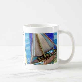 """Sailing Off The Edge of The Page""  CricketDiane Coffee Mug"