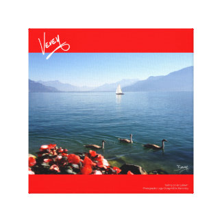 Sailing on Lac Léman Canvas Print