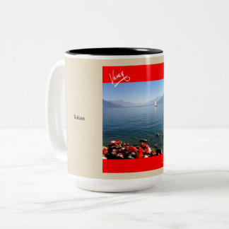 Sailing on Lac Léman Two-Tone Coffee Mug