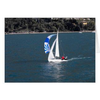 Sailing on Lake Garda, Italy Card