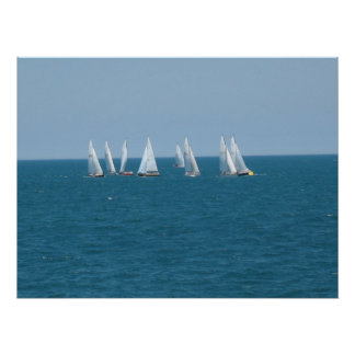 """Sailing on Lake Michigan"" Poster"