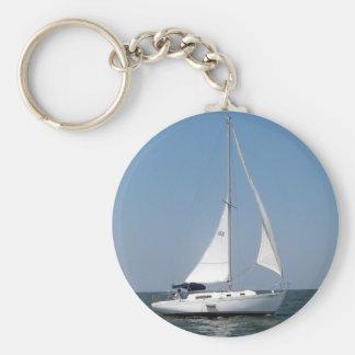 Sailing on Lake Pontchartrain Keychain
